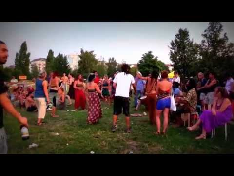 Crazy djembe drums party part 1  Street Music TV