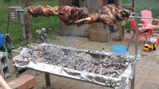 Legs Of Lamb Getting Ready For Easter.
