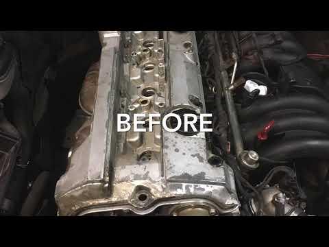 Mercedes Benz valve cover repaint m104 engine w202 c280