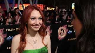 jacqueline emerson   the hunger games premiere interview