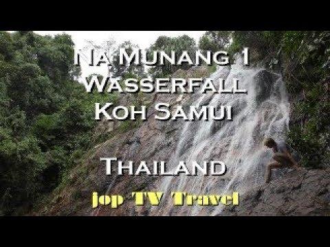 Na Muang 1 Wasserfall Koh Samui (Thailand) Vacation Travel Video Guide Jop TV Travel 4k