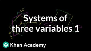 systems of three variables   systems of equations and inequalities   algebra ii   khan academy