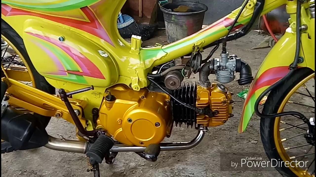 Desain Modifikasi Motor Legenda Airbrush Otomotif