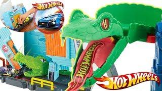 Hot Wheels City • Aligator w warsztacie & Starcie z Kobrą