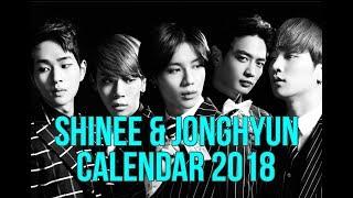 💖 Shinee & Jonghyun Calendar 2018 💖 DOWNLOAD🎁