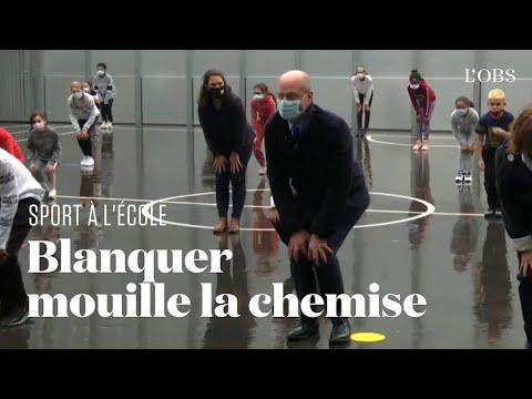 La séance de sport de Jean-Michel Blanquer dans une école parisienne