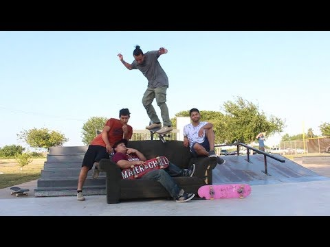 Skateboarding with the Couch