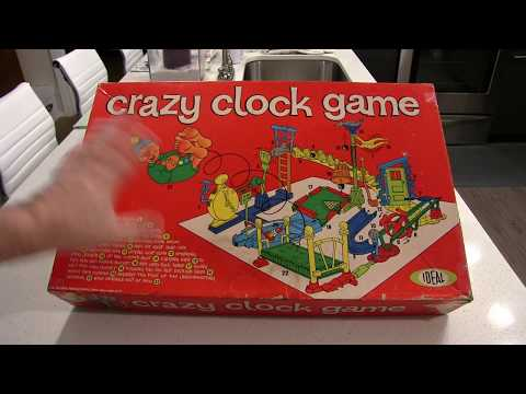 Vintage Board Game Review: Crazy Clock, 1964 Ideal Toys