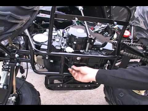 49cc scooter wiring diagram single phase to 3 inverter chinese atv oil change how - youtube