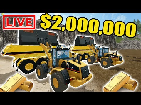 MINING SIMULATOR 2017 | THE CREW IS GOING FOR $2,000,000 IN GOLD! | MINING LIVE STREAM BABY!