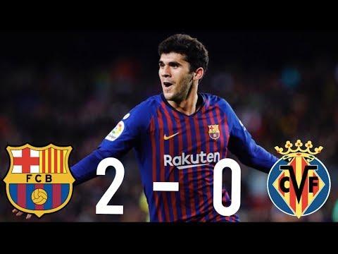 Barcelona vs Villarreal [2-0], La Liga 2018/19 - MATCH REVIEW