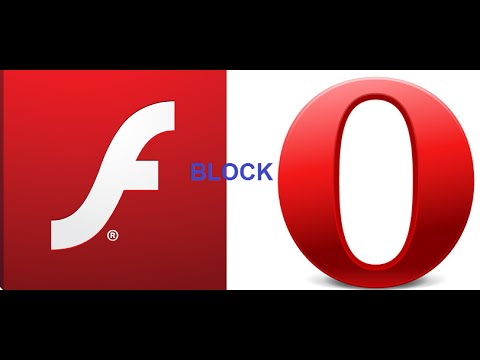 Disable Flash Player In Opera.