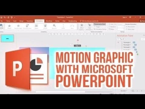 كيفية تصميم موشن جرافيك بالبوربوينت how to make a motion graphic on PowerPoint