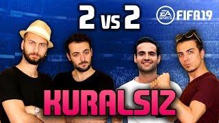 FIFA 19 2v2 YENİ OYUN MODU KURALSIZ DENİYORUZ /w Jaji
