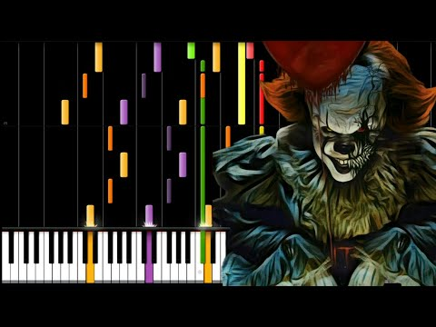 IT - the dancing clown song (synthesia piano tutorial)