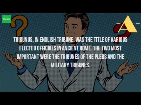 What Does Tribune Mean In Ancient Rome?