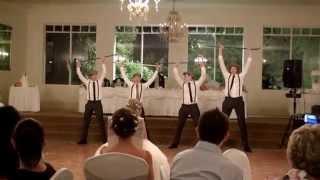 Awesome choreographed groomsmen dance!