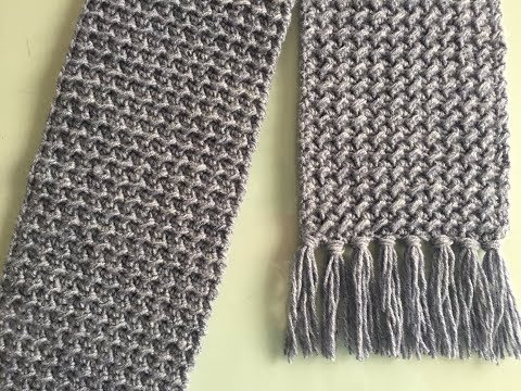 Crochet Scarf Tutorial  | BEGINNER LEVEL ~ Easy And Fast