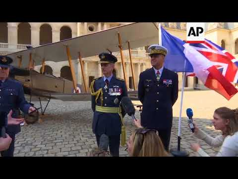 France, UK mark centenary of Britain's Royal Air Force