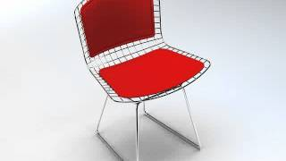 3d Model Of Bertoia Wire Side Chair & Bar Stool