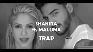 Shakira Trap OFFICIAL LYRICS Ft  Maluma (Subtitled in Spanish and English)
