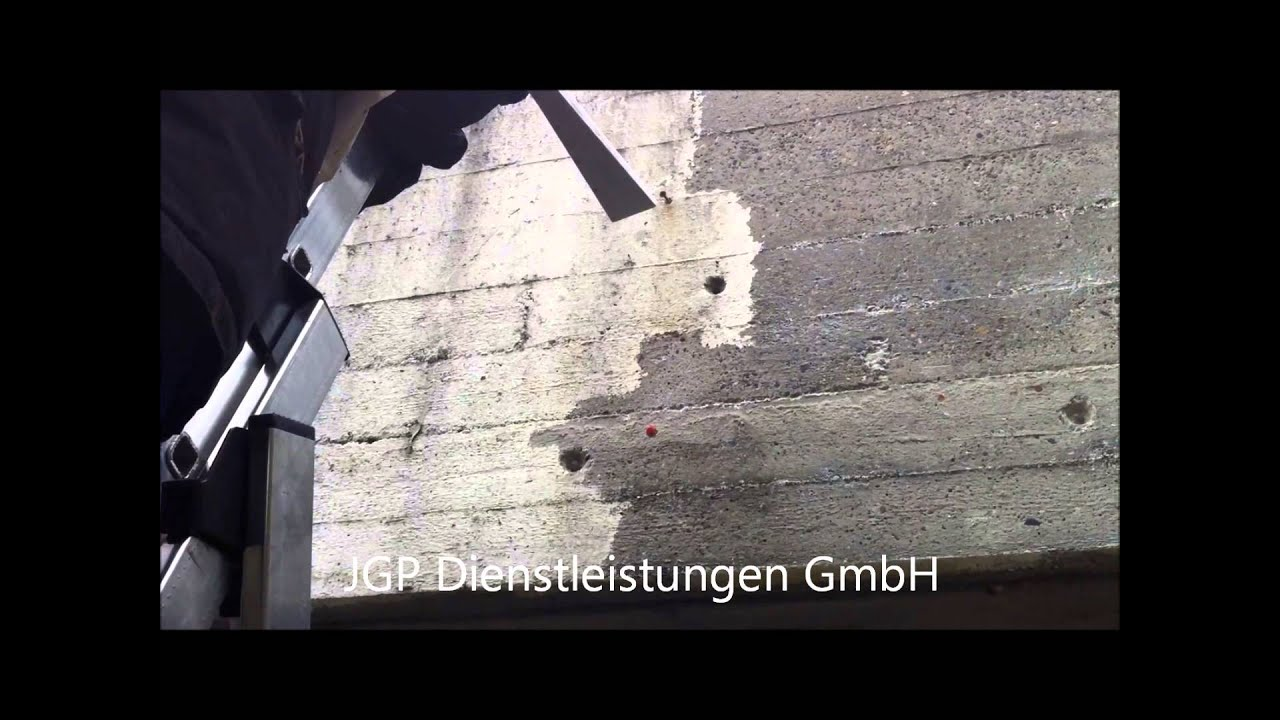 Trockeneisstrahle Bzw Trockeneisreinigung Beton