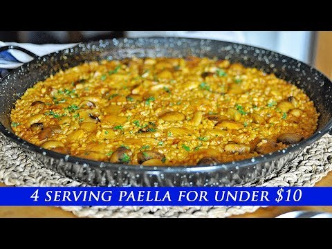 Making A SPANISH PAELLA For 4 PEOPLE For Under $10