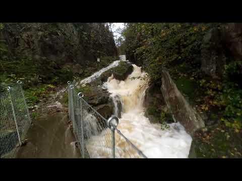 Flooding in Kristiansand v/Jernstøperiet 1. Oct 2017 [206mm+ of rain in 36 hours]