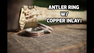 Deer Antler Ring with Inlay How-To