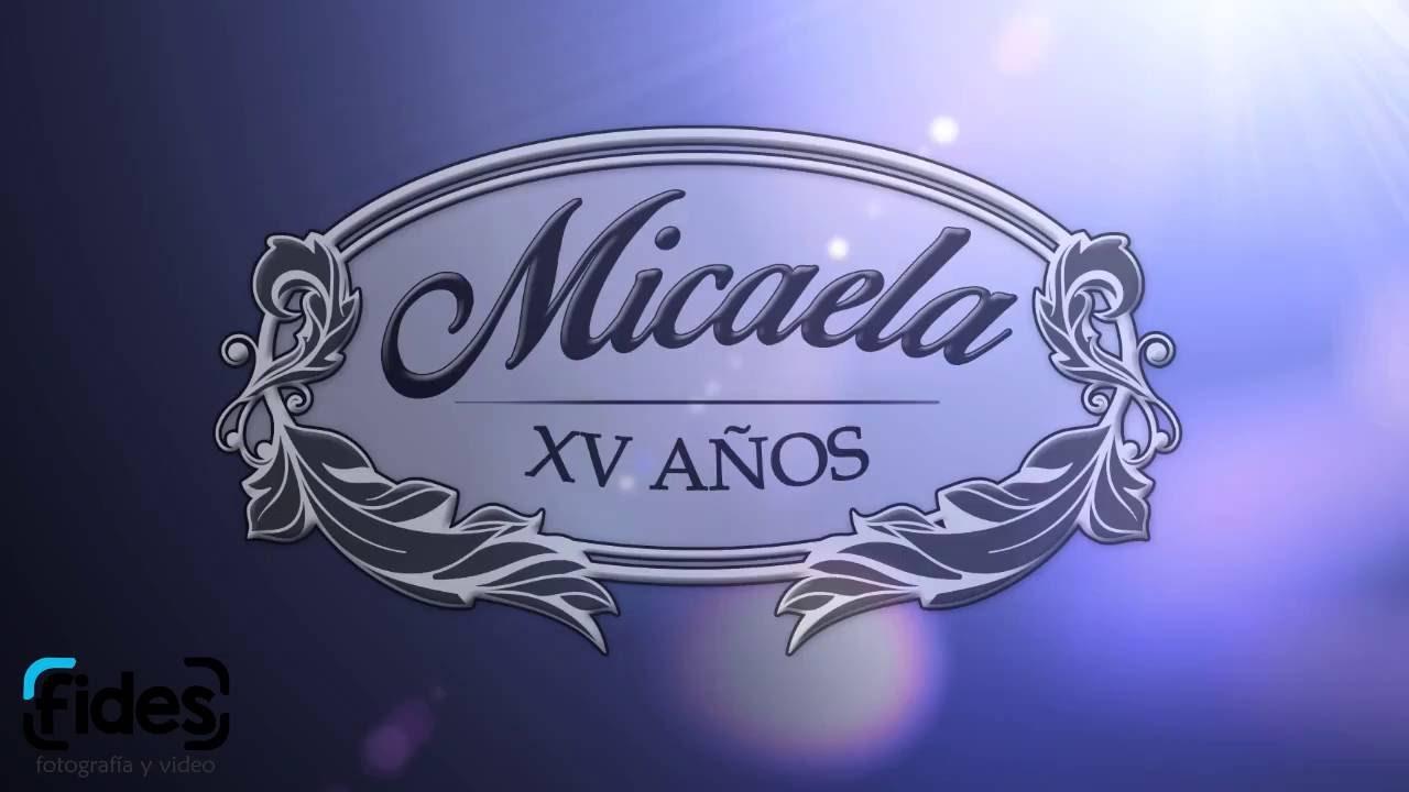 Invitación Digital Micaela 15 Años Youtube