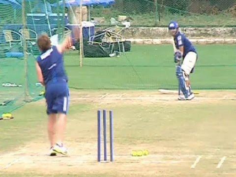 Sachin Tendulkar practice