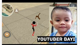 Mainan anak game stickman rope hero (youtuber bayi) part 2