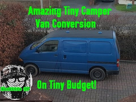 Amazing Toyota Hiace Self Build Surf Camper Van Built on £300 Budget! Tour Of my AWESOME little Van