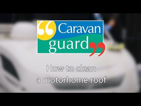How to clean a motorhome roof
