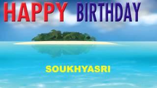 Soukhyasri   Card Tarjeta - Happy Birthday