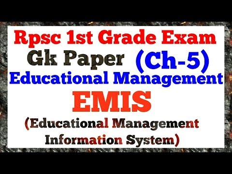 Ch-5 Educational Management :EMIS(Educational Management Information System) by Dr. Ajay choudhary