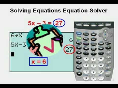 Solving Equations Using Equation Solver - YouTube