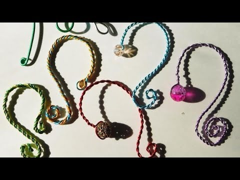 DIY Beaded Wire Ornament Hangers, Kids Can Make with Colored Jewelry Wire and Crystal Beads