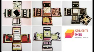 5 Different Color Explosion box Designs by Srushti Patil