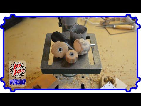 Drehknäufe aus Holz selbst herstellen ohne Drechselbank