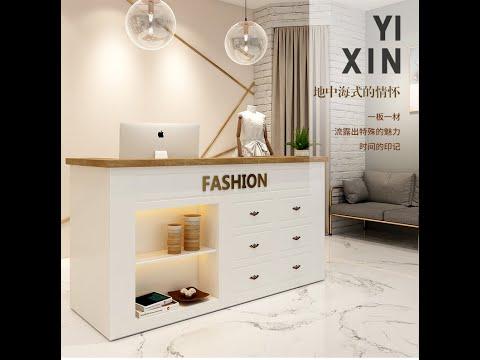 Nordic Modern Clothing Store Counter Cashier Coffee Shop Front Desk Reception Desk