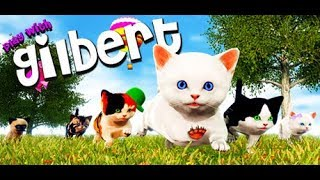 Play With Gilbert - The Moon #4. Cute kit. Adventures of cute kittens on the moon.
