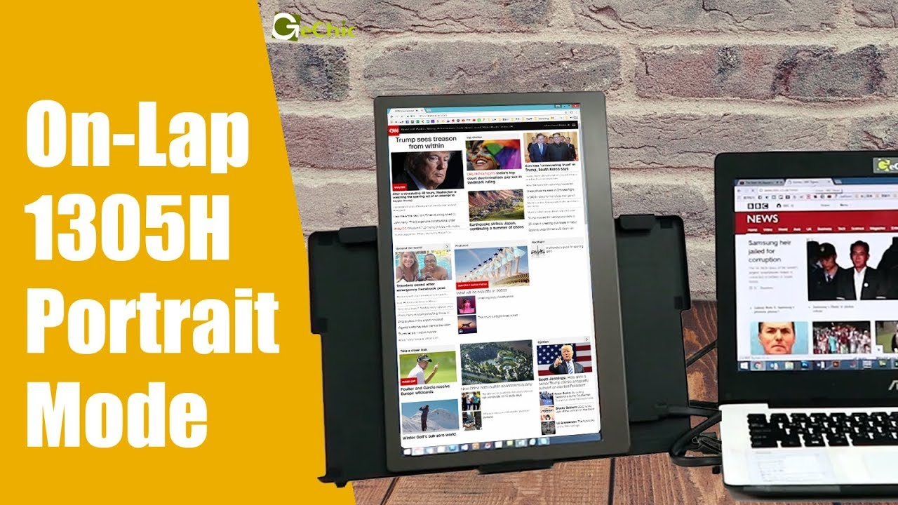 GeChic How to Set Up 1305H Portable Monitor in Portrait Mode- Windows 10/8.1/7