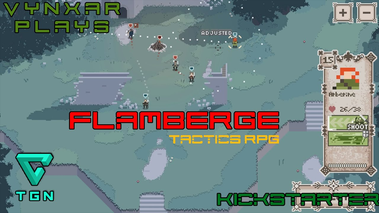 Let's try Flamberge - a great pixel art tactical RPG on kickstarter