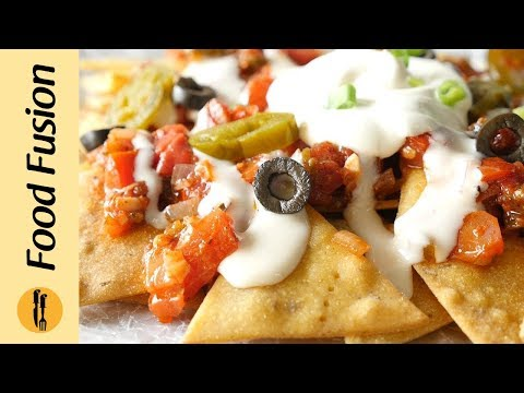 Nachos With Salsa & Cheese Sauce Recipe By Food Fusion