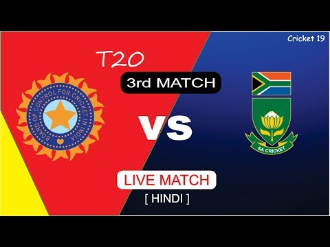 LIVE : India Vs South Africa  3rd T20 Live Match