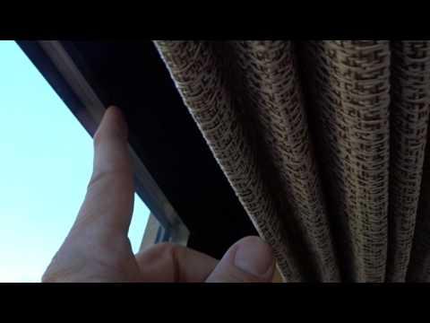 Roman Shades Act as Valance on Slider Door