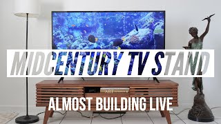 live stream - unboxing and (almost) building modway tv stand from amazon