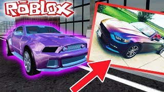 Driving in a ford mustang GT (roblox vehicle simulator)