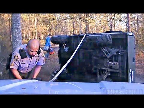 Dashcam video shows deputy save boy trapped under ATV